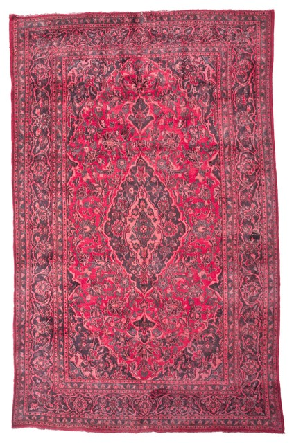 over dyed imported persian rug red and pink x traditional area rugs by west of. Black Bedroom Furniture Sets. Home Design Ideas