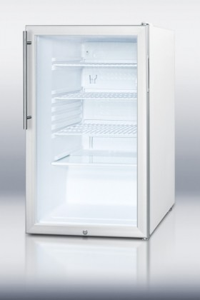 "SCR450LHV 20"" 4.1 cu. ft. Refrigerator With Glass Door  Factory Installed Lock contemporary"