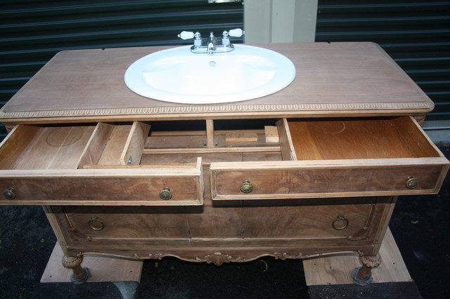 Vintage Dresser converted into Bathroom Vanity - other ...