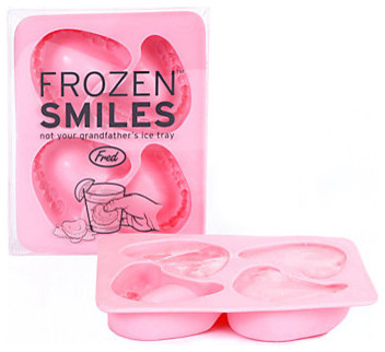 Frozen Smiles Ice Cube Tray modern-wine-and-bar-tools