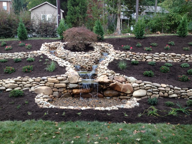 Aquascape Pondless Waterfall Outdoor Fountain And Pond