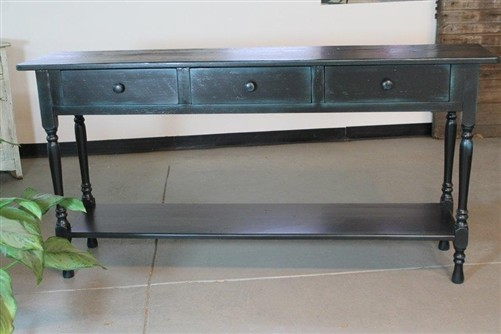 Console Table Black Baskets images