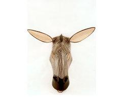 Serengeti Zebra Mask eclectic-artwork