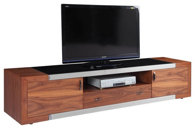 Franco Walnut TV Stand - Modern - Entertainment Centers And Tv Stands - by BA Furniture Stores
