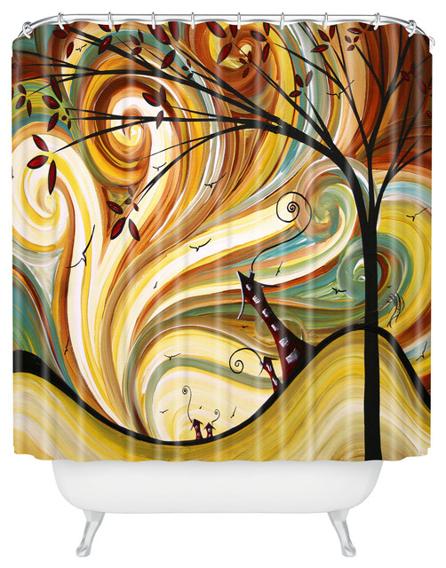 madart inc Out West Shower Curtain eclectic-shower-curtains