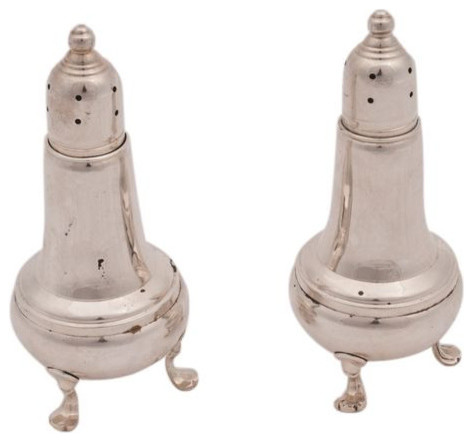 SOLD OUT! Sterling Silver Salt and Pepper Shakers - $120 Est. Retail - $39 on Ch traditional-salt-and-pepper-shakers-and-mills