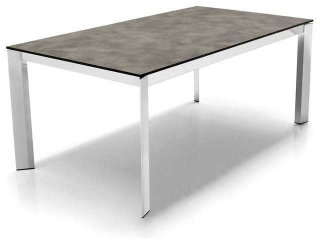 Calligaris Baron Metal And Glass Extending Table modern-dining-tables
