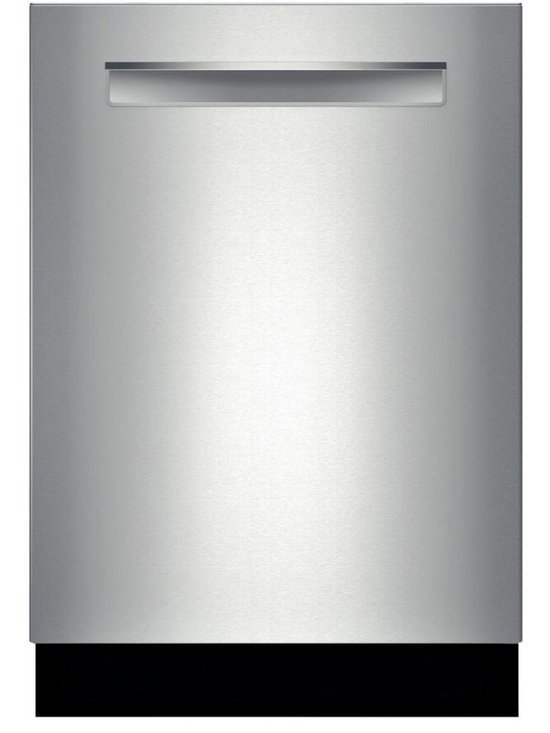 """Bosch 24"""" 500 Series Flush Handle Dishwasher, Stainless Steel 