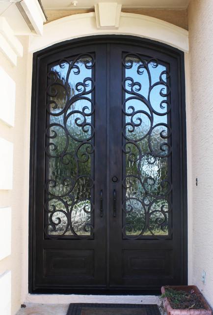 Eyebrow Top Double Door Traditional Front Doors