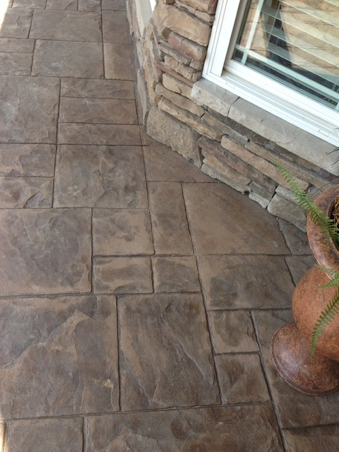 Stamped Rubber Flooring : Simpsonville sc stamped concrete porch craftsman other
