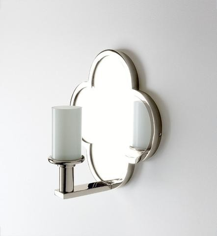 Wall Sconces With Mirrors : Lawson Wall Mounted Clover Quadrifoil Single Arm Mirror Sconce Waterworks Onli - Swing Arm ...