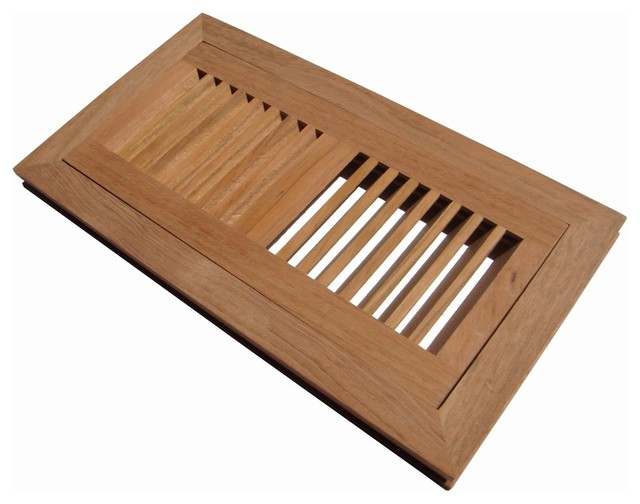 Welland Flush Mount Wood Floor Vent Register Unfinished W