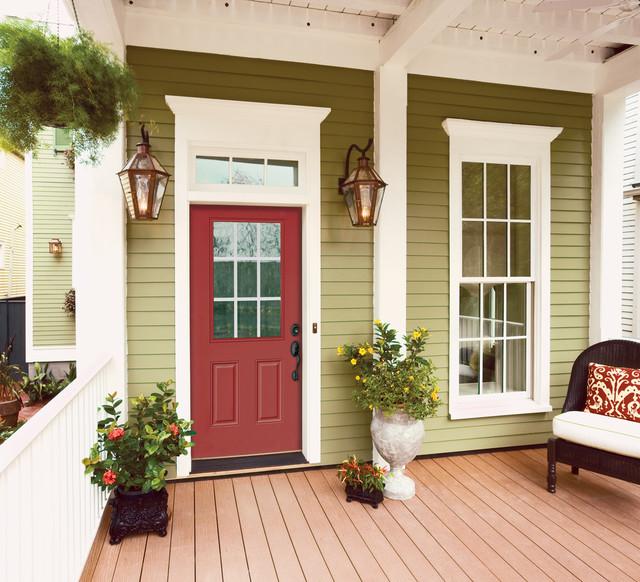 Ranch Half-Lite Entry Door traditional-front-doors