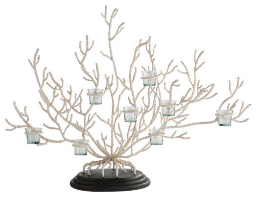 Coral Votive Tree tropical candles and candle holders
