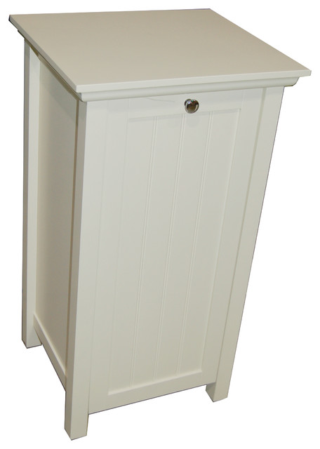Antique White Tilt-Out Laundry Hamper - Contemporary - Hampers - by Overstock.com