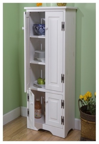 Extra Tall Pine Cabinet in White modern-home-decor