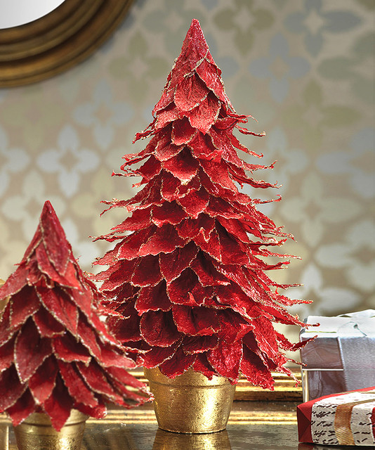 Poinsettia Leaf Tree - Transitional - Accessories And Decor - by Bliss Home & Design