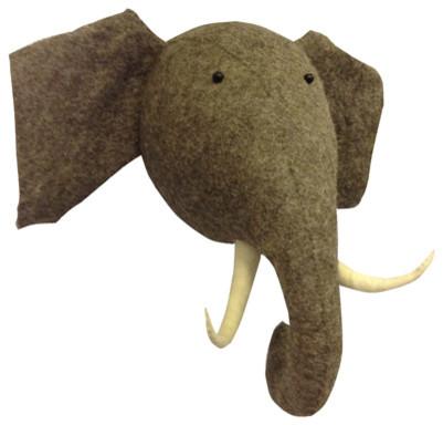 Elephant Head Craftsman Kids Decor New York By Efl