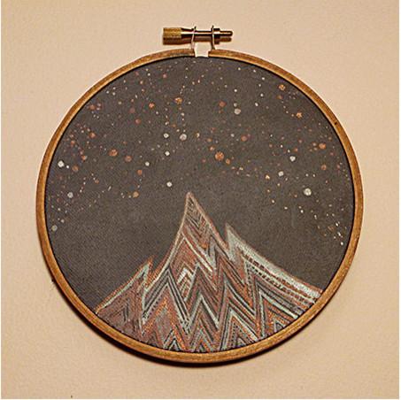 The Lyra Constellation Original Painting by Elise Mahan Fine Art contemporary-artwork