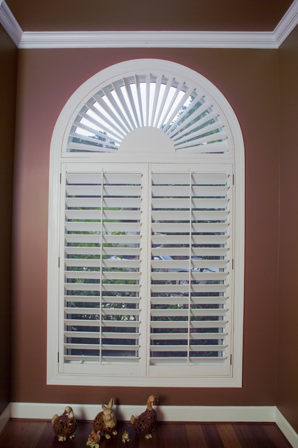 Wood Shutters traditional window treatments