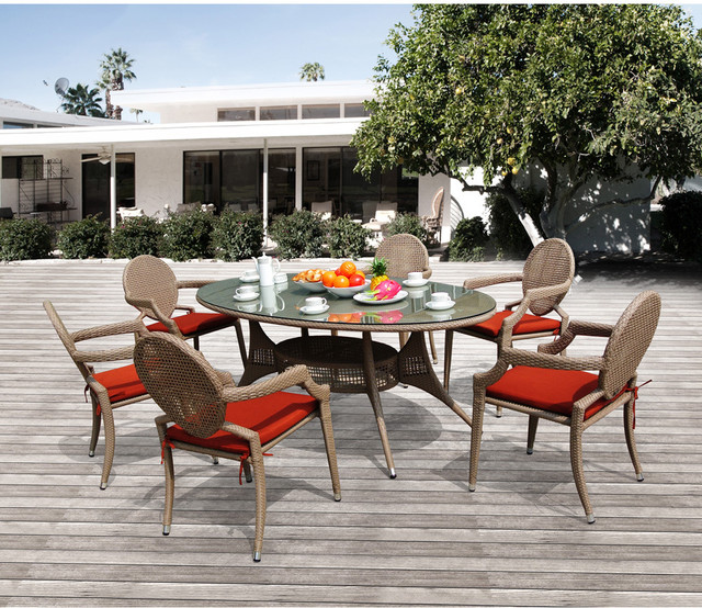 Danita Dining 6 Chairs/ 1 Table Set contemporary-dining-sets