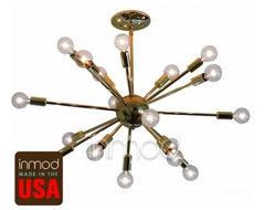 Brass Or Chrome Sputnik Lamp contemporary ceiling lighting