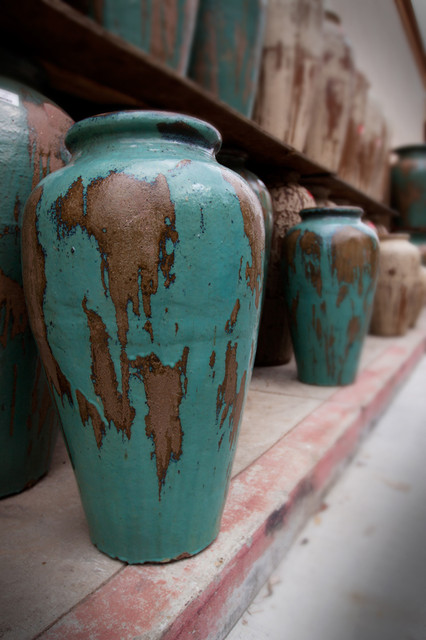 rustic glazed pots outdoor decor sacramento by