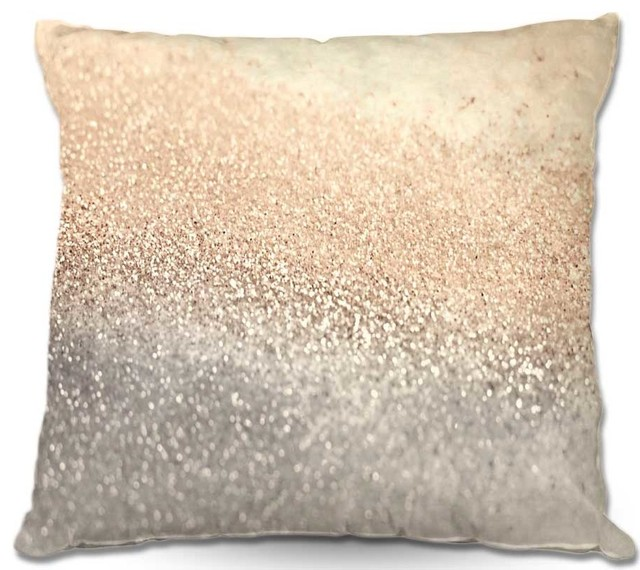 Pillow Woven Poplin from DiaNoche Designs by Monika Strigels Gatsby Gold I contemporary-decorative-pillows