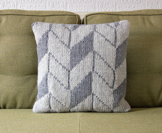 Knit Throw Pillow Cover Pattern : Geometric Pattern Gay Pillow/Cushion Cover by Knit Frekkles - Contemporary - Decorative Pillows ...