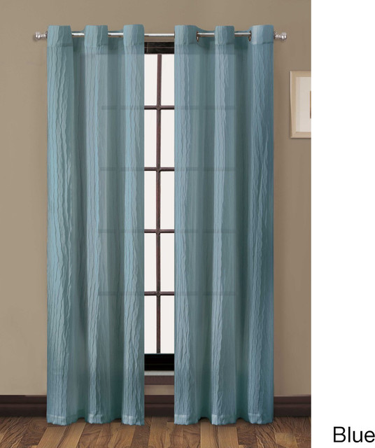 ... Grommet Curtain Panel - Contemporary - Curtains - by Overstock.com