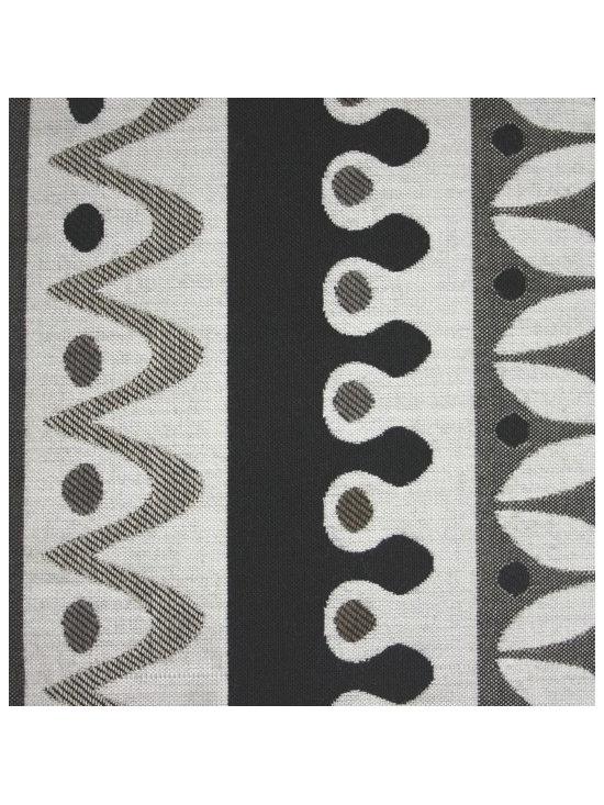 Nordic Stripe Black And White Outdoor Fabric | Robert Allen -