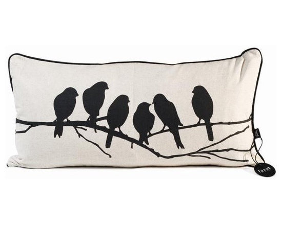 Ferm Living Lovebirds Pillow - Ferm Living Lovebirds Pillow