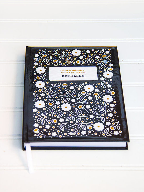 Personalized Flora-Patterned Journal by Splendid Supply Co. -