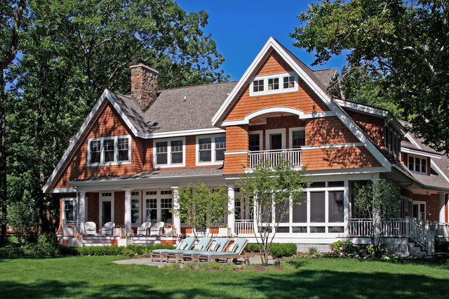 Shingle Style Cottage on Lake Michigan traditional-exterior