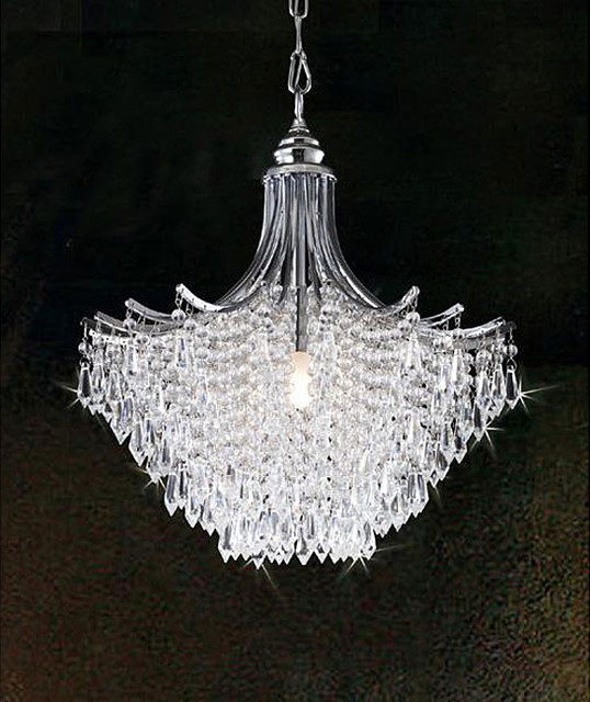 Silver Crystal Chandelier traditional chandeliers