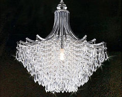 Silver Crystal Chandelier traditional-chandeliers