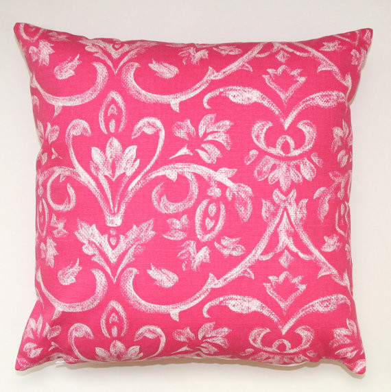 Candy Pink Tuscany Pillow Cover by Modernality 2 modern-decorative-pillows
