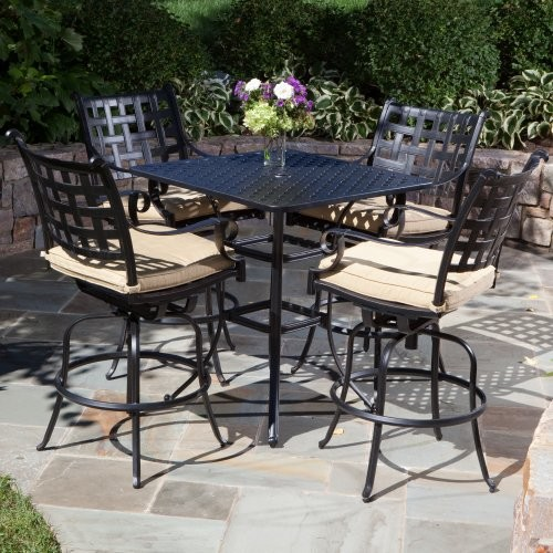 Alfresco Home Chateau Bar Height Dining Set Contemporary Patio Furniture And Outdoor