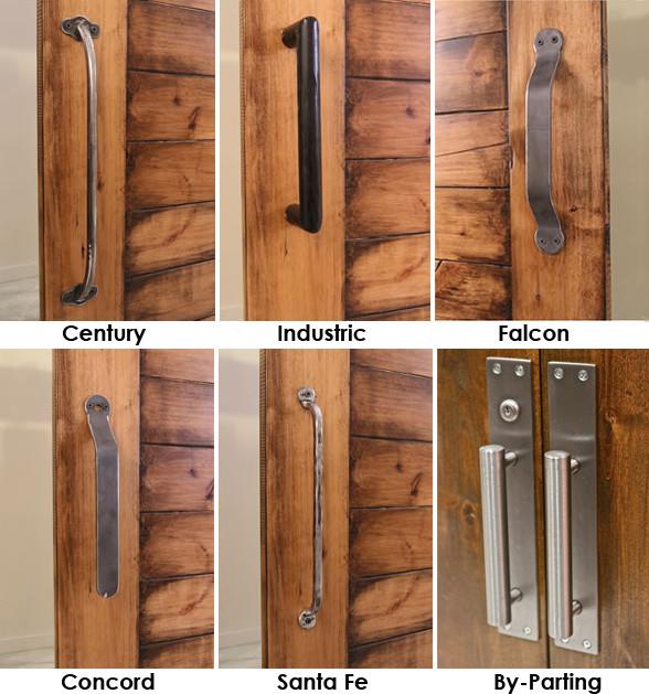 Barn Door Pull w/ Optional Barn Door Locks - Modern - Cupboard & Drawer Handles - salt lake city ...