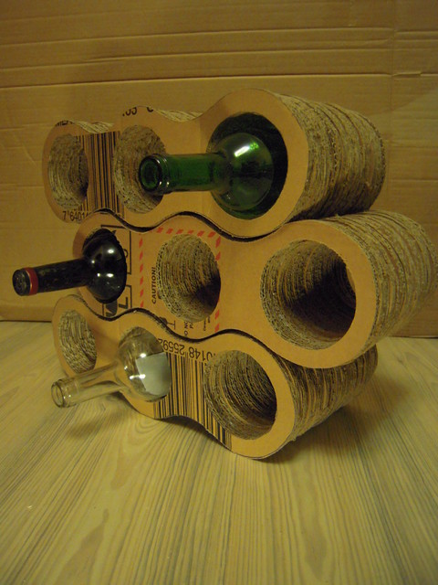 Carboard is Subtle contemporary-wine-racks