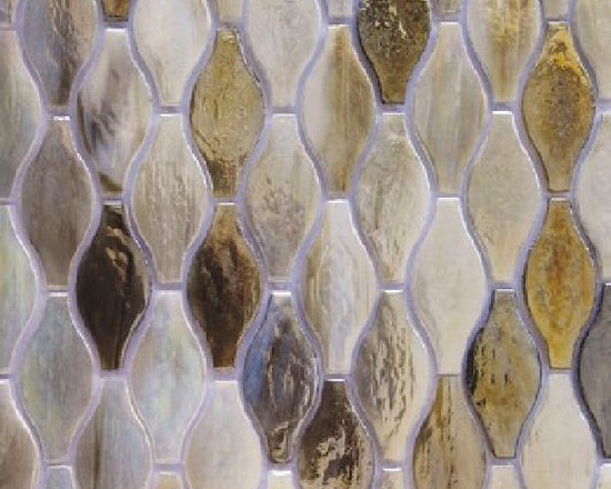 Silhouette glass tile mosaic by Hirsch
