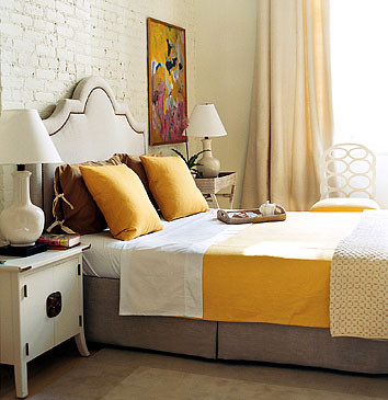 dominomag- eclectic yellow bedroom eclectic 