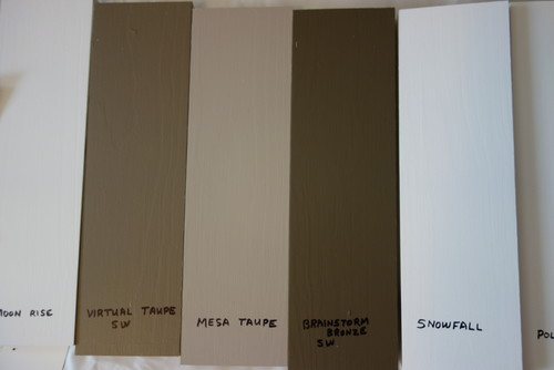 Warm gray wall paint - House Color Please Help Mid Range Versus Darker Taupes