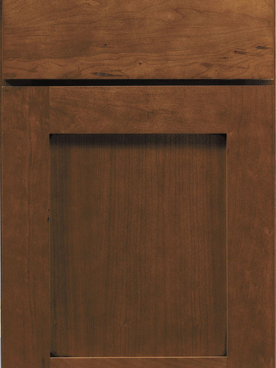 Cherry Door Styles from Wellborn Cabinet, Inc. - Prairie Cherry is a shaker style that is popular with designers and homeowners. Finish shown here is Cocoa Java.