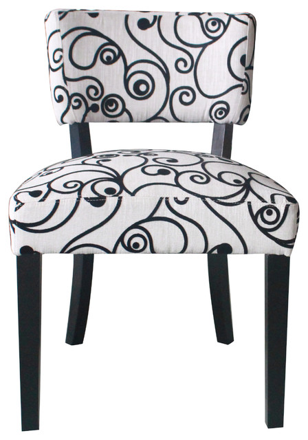 4d Concepts Cosmo Oversize Accent Chair In Black Amp White