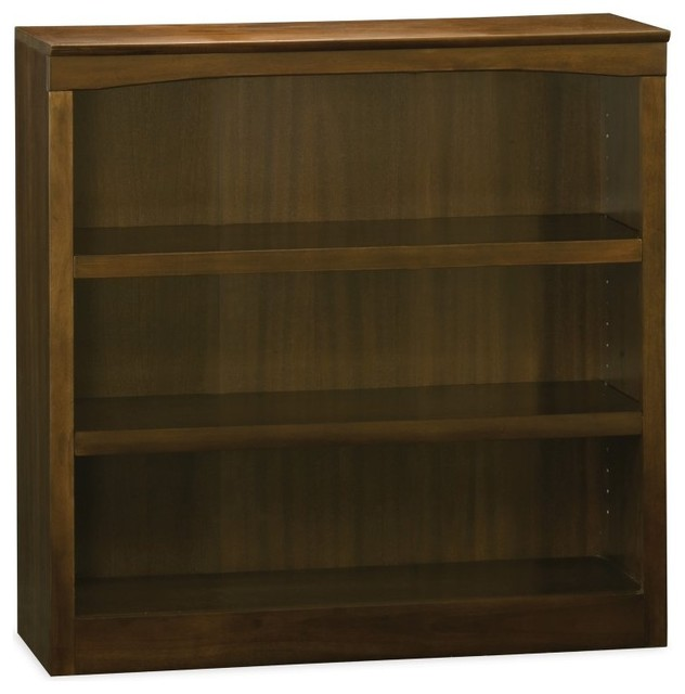 Atlantic 36 in. Bookshelf - Antique Walnut Brown - H-80034 contemporary-bookcases