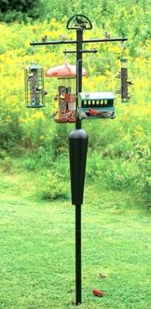 Squirrel Stopper Black + freight bird-feeders