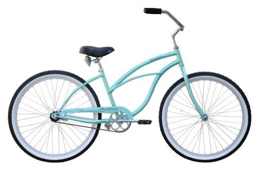 Beach Cruiser Bicycle, Woman, Firmstrong Urban, Mint contemporary outdoor products