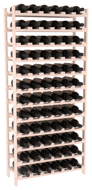 72 Bottle Stackable Wine Rack in Ponderosa Pine, White Wash + Satin Finish contemporary-wine-racks