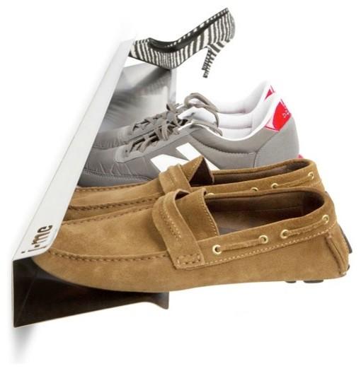 Horizontal Shoe Rack, White, Large - Modern - Shoe Storage - by ...